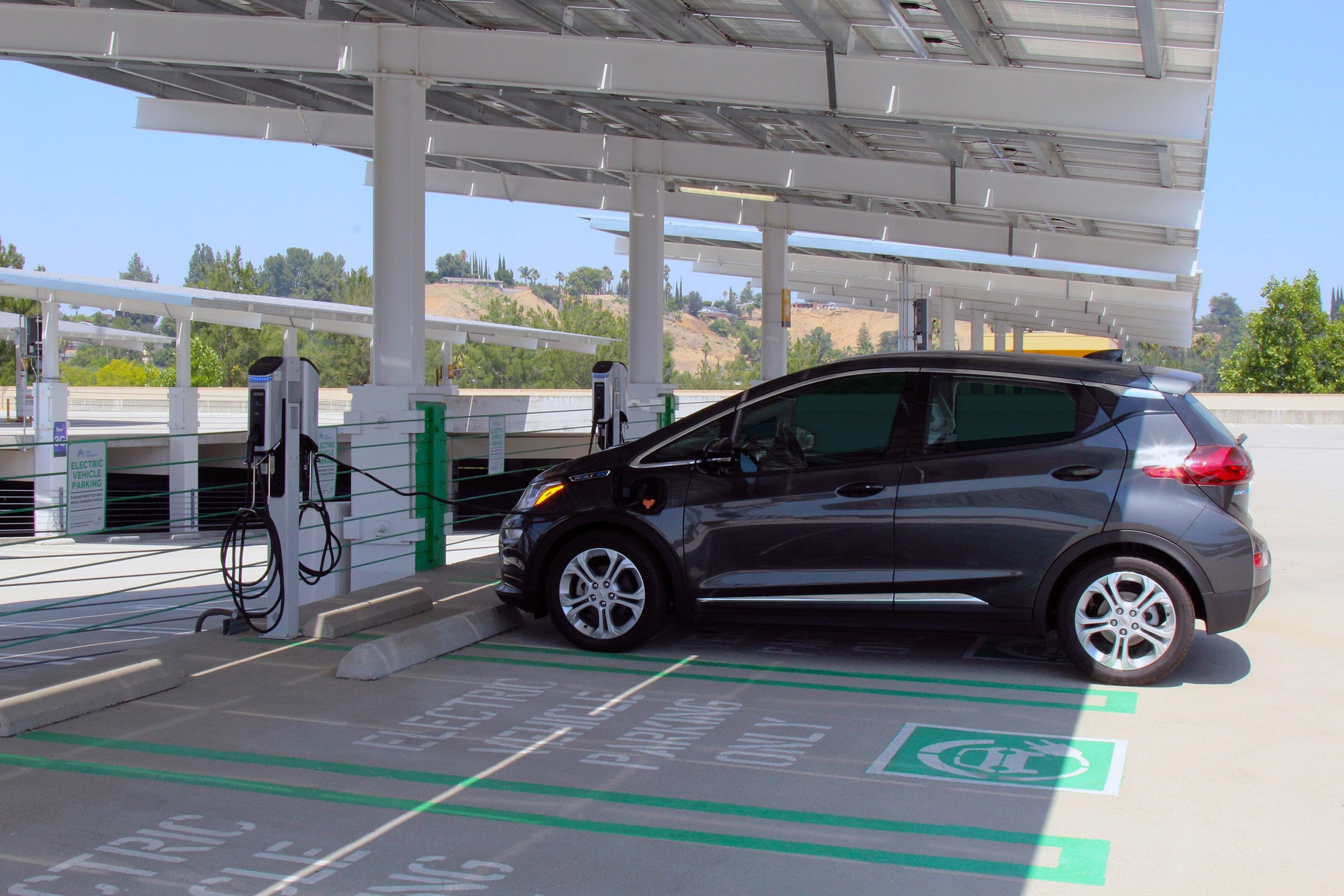 Chevy Bolt EV Charging at a Level 2 charger